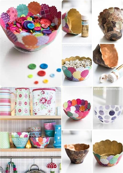 Diy paper bowl diy craft crafts craft ideas easy crafts for Diy paper bowl
