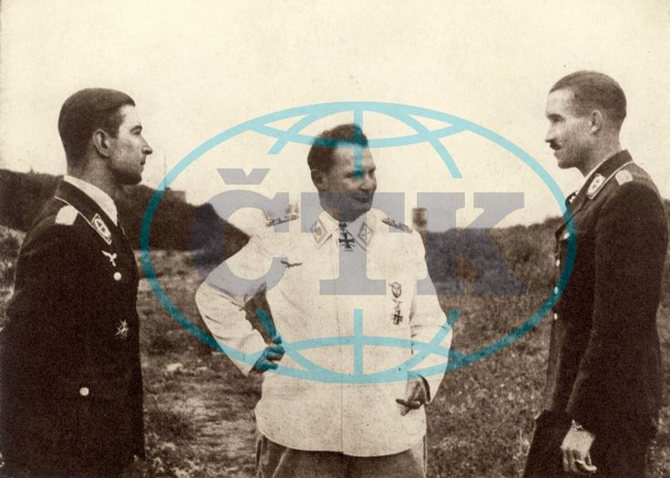 Werner Molders, Hermann Goering and Adolf Galland