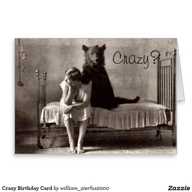 Crazy Birthday Card Strange Wishes Greetings Card Collection