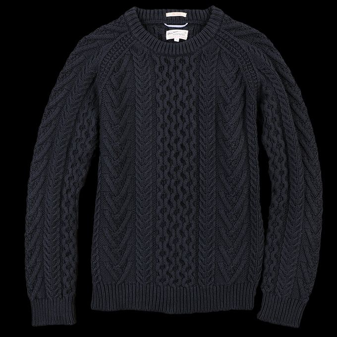 UNIONMADE - GANT Rugger - Cotton Cable Knit Sweater in Navy