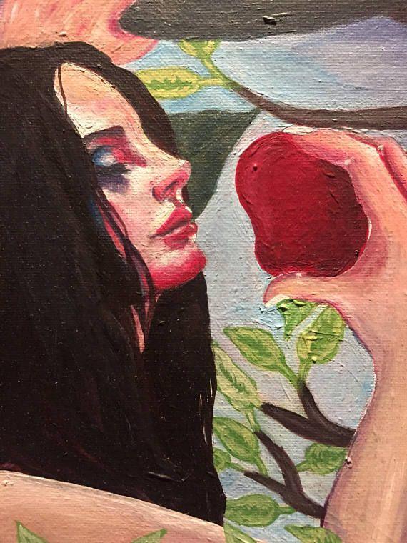 Lana del Rey tropico inspired painting.