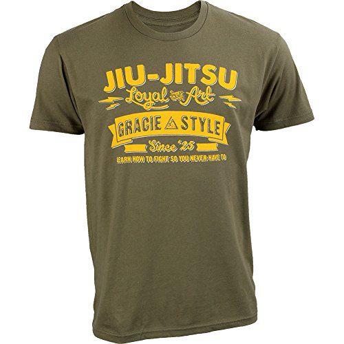 Gracie Jiu-Jitsu Dover Shirt Military Green Small....