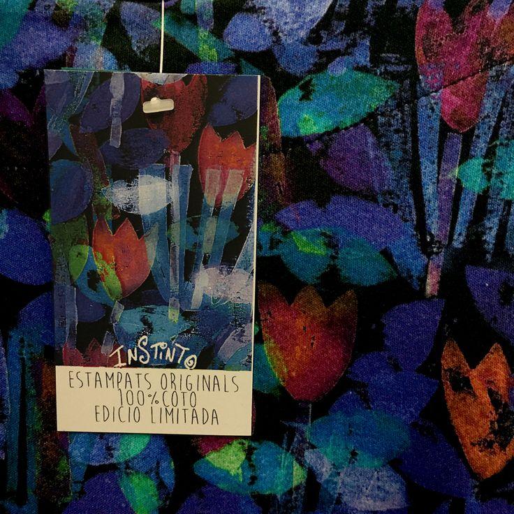 http://www.instintobcn.com/es/154-coleccion-tulipes Etiqueta para el estampado textil Tulipes.#Print #Ropa #verano2016