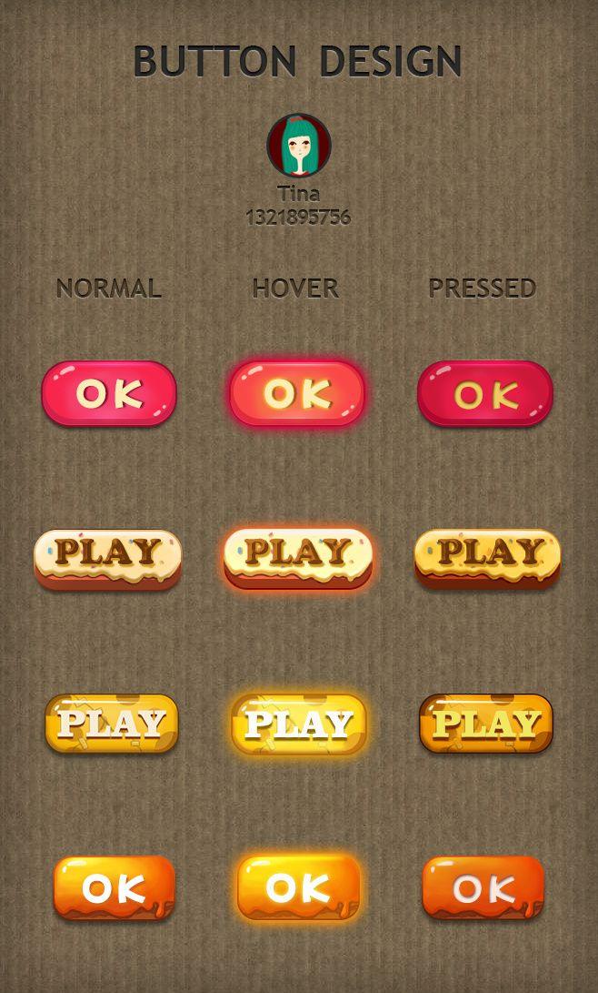 按钮 |GAMEUI- 游戏设计圈聚集地...