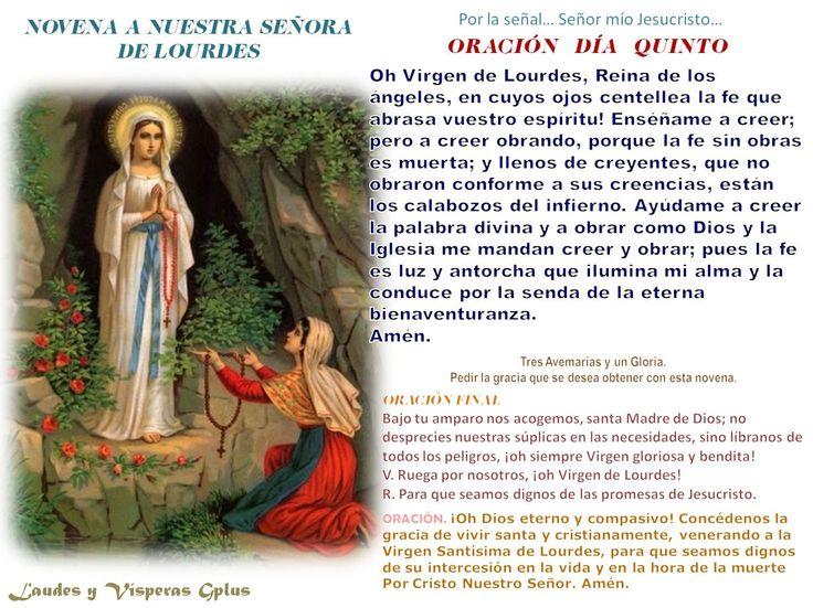 Dia De La Virgen De Lourdes: Día 5° Oh Virgen De Lourdes, Reina De Los ángeles, En