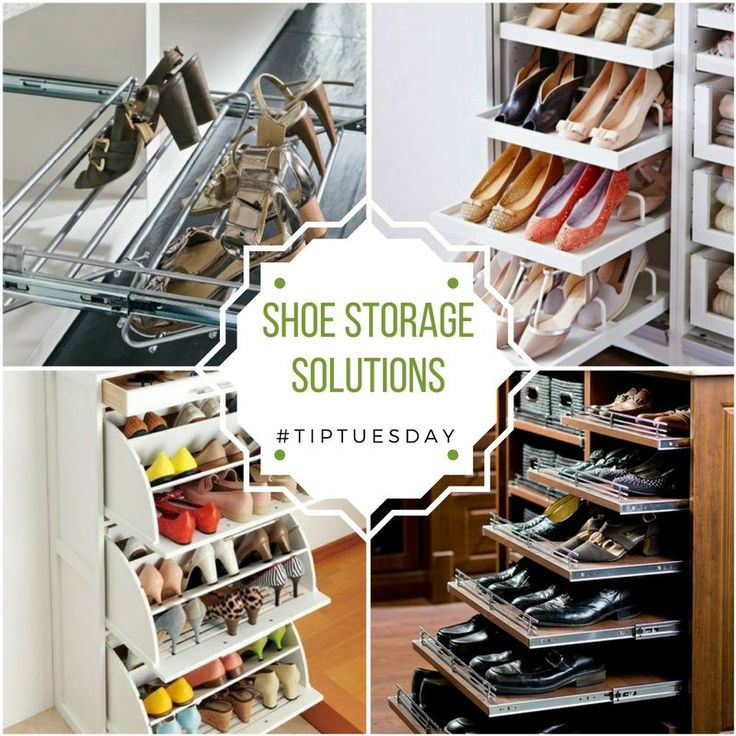 Tip Tuesday - Shoe Storage Solutions Storing shoes in your closet can take up a lot of room, but these shoe organizer ideas will keep your closet organized while saving space. http://ow.ly/yMl230eN9qd