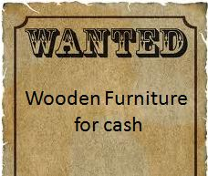 I am buying old wooden furniture for cash. If you are interested please contact me. To view more items please visit my Facebook pages at: http://www.facebook.com/ArmstrongHomeDecor