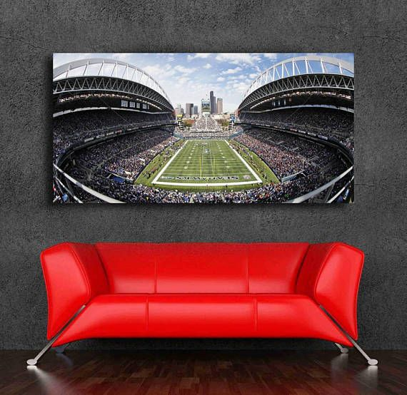 Seattle Seahawks Stadium Canvas Print 36 x 18 Century Link Field Panoramic A must have for the Seahawks Fan High Quality Canvas Print MADE IN USA. Loose Canvas Roll, not framed, not stretched printed on high quality 100% Archival canvas using top of the line Canon equipment and