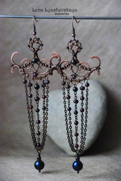 Wire creative - Brass Earrings