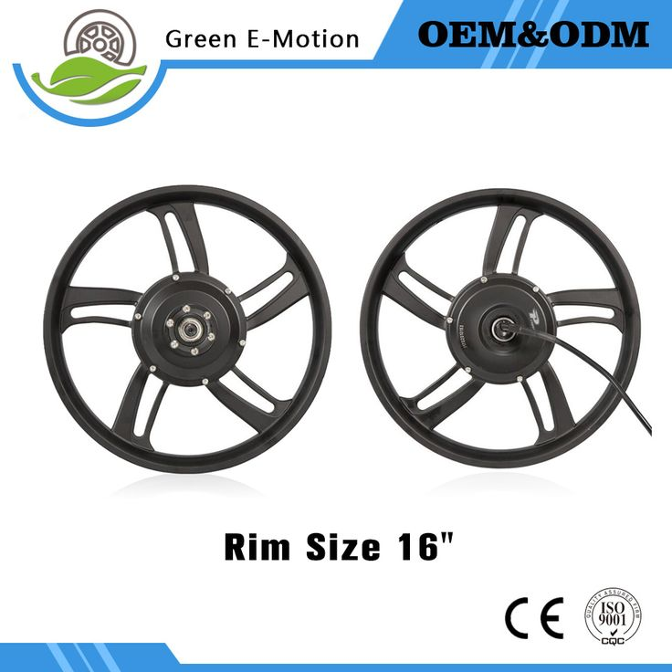 "16"" One Wheel Magnesium Alloy16"" Electric Bike Kit Electric Wheel Kit Mountain Bike Wheel Kit 36v 48v"