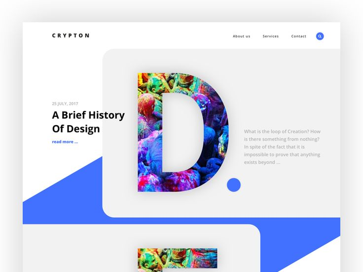 Crypton - landing for creative agency V.2