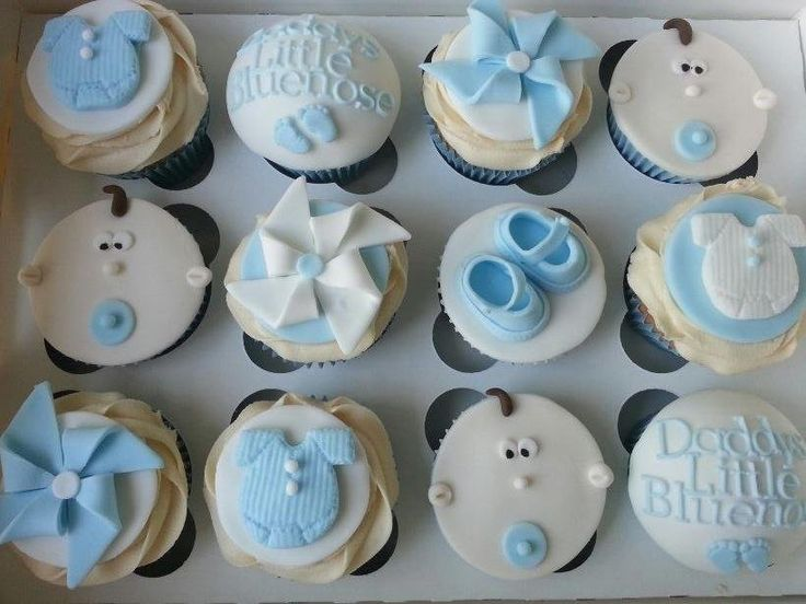 Baby Boy Cupcakes   By MrsMurraycakes @ CakesDecor.com   Cake Decorating  Website