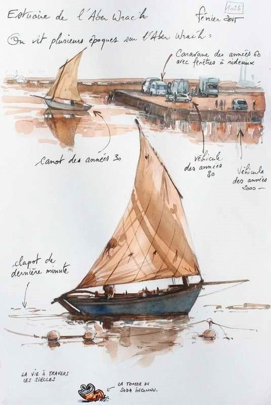 Une Bretagne par les Contours / Estuaire de l'Aber Wrac'h