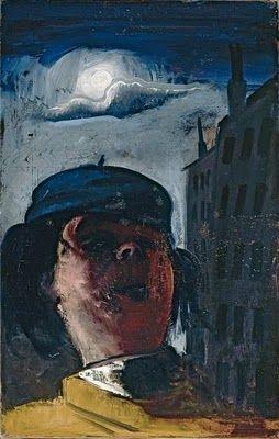 Felix Nussbaum (German-Jewish: 1904 – 1944) - Self Portrait in front of house, 1938