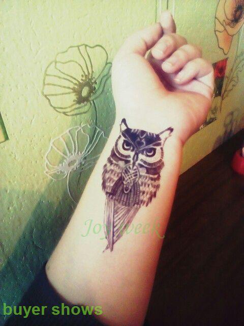 Wodoodporna Tymczasowe Tattoo naklejki sowa tatuaż 10.5*6 cm Wody Transferu fałszywy tattoo flash tatuaż dla dziewczyny kobiety mężczyźni