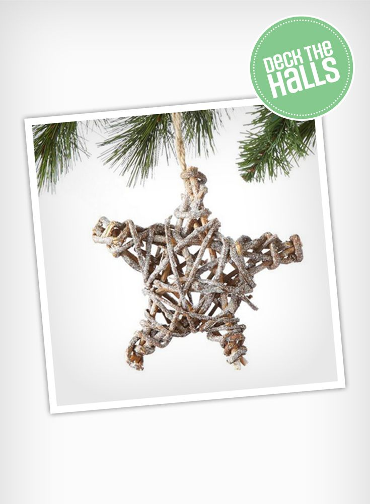 Complete your snowy and rustic-inspired Christmas tree with WHOLE HOME NOËL Rattan Star Ornaments.