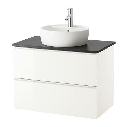 godmorgon odensvik mobile per lavabo con 4 cassetti lucido bianco