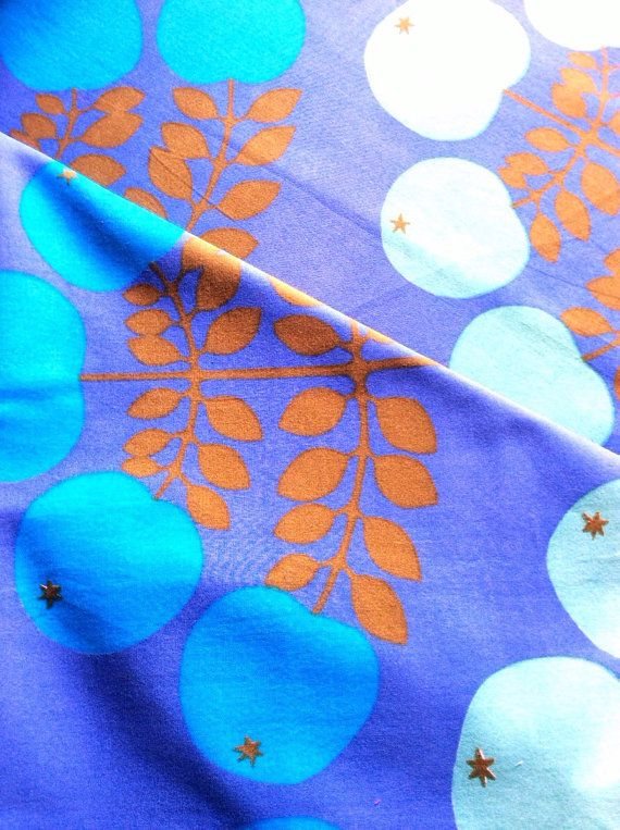 vintage scandi retro fabric from the 60s