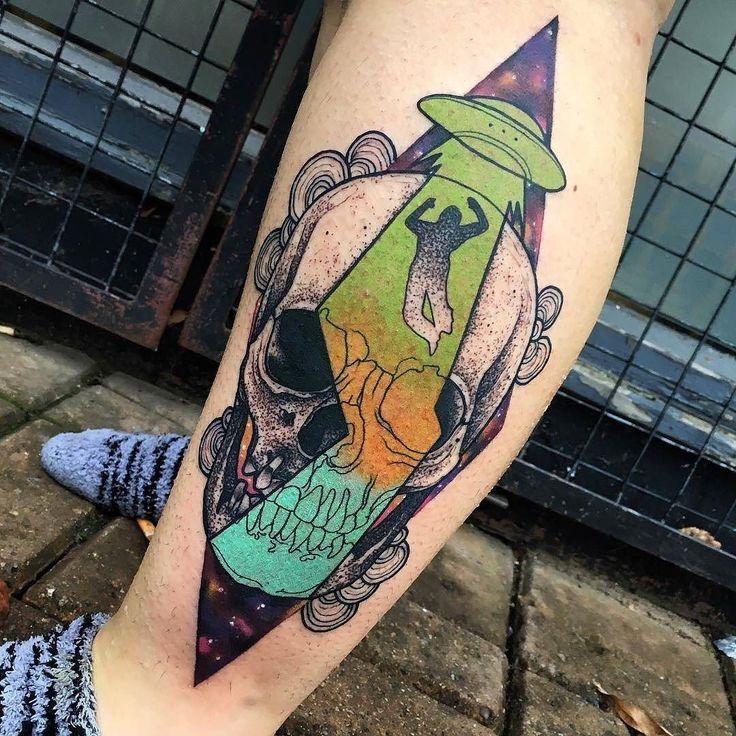 Alien Abduction tattoo by @littleandytattoo at @thechurchtattoo in Birmingham U.K. #littleandytattoo #littleandy #thechurchtattoo #thechurchtattoostudio #birmingham #uk #unitedkingdom #alientattoo #ufotattoo #alienabductiontattoo #skulltattoo #tattoo #tattoos #tattoosnob