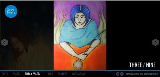 """Diseño web para la Artista """"Monica Ibarra"""""""