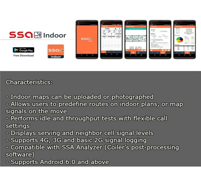 RF professionals can perform high-precision #mapping of indoor #signal quality on their Android smartphone using SSA Indoor. It helps them to plan and execute coverage improvement installations.