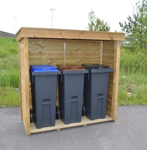 Søppelstativ og postkassestativ
