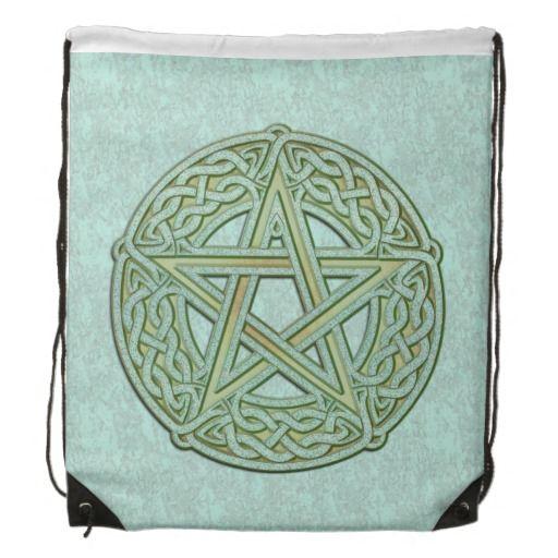 Celtic PentagramAqua Backpacks
