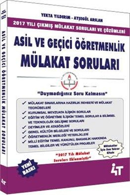 Asil ve Geçici Öğretmenlik Mülakat Soruları 4T Yayınları