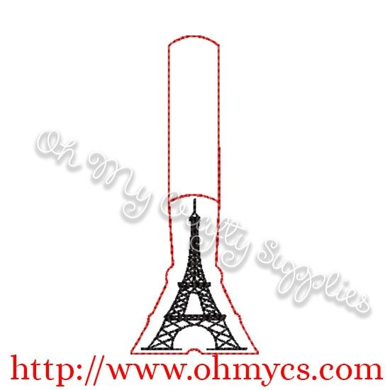 Ith Eiffel Tower Key Fob Embroidery Designs Machine Embroidery Key