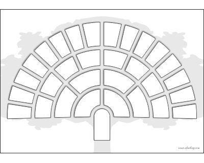 Dise o en forma de abanico arbol geneal gico pinterest - Diseno arbol genealogico ...