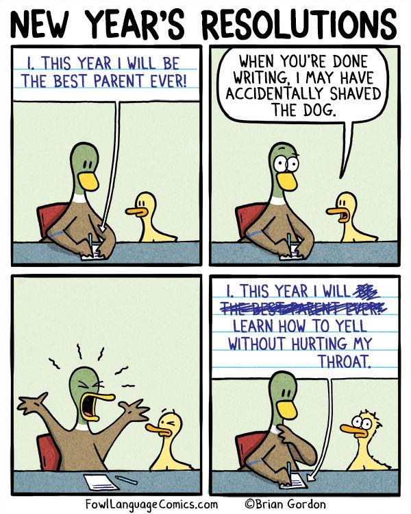 New years comic strips