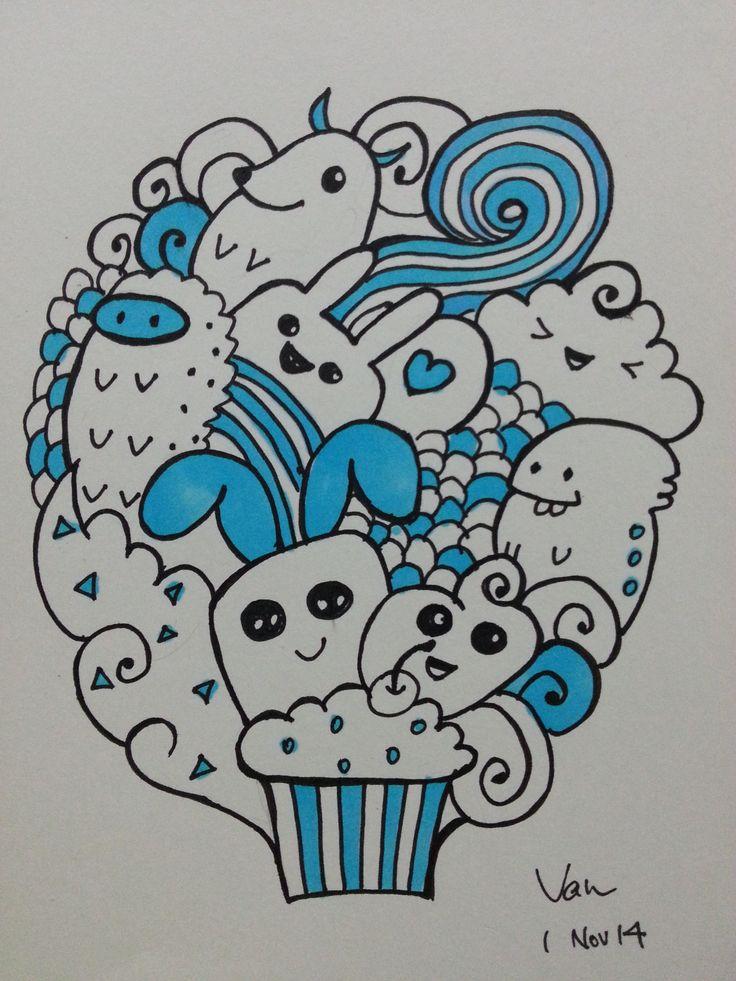 Blue color Doodle!