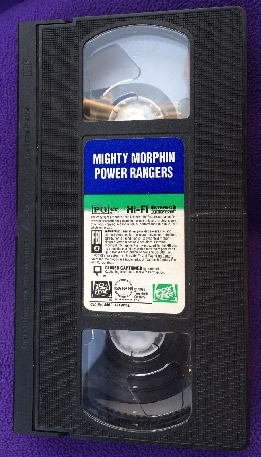 Mighty Morphin Power Rangers: The Movie (VHS, 1995 ...