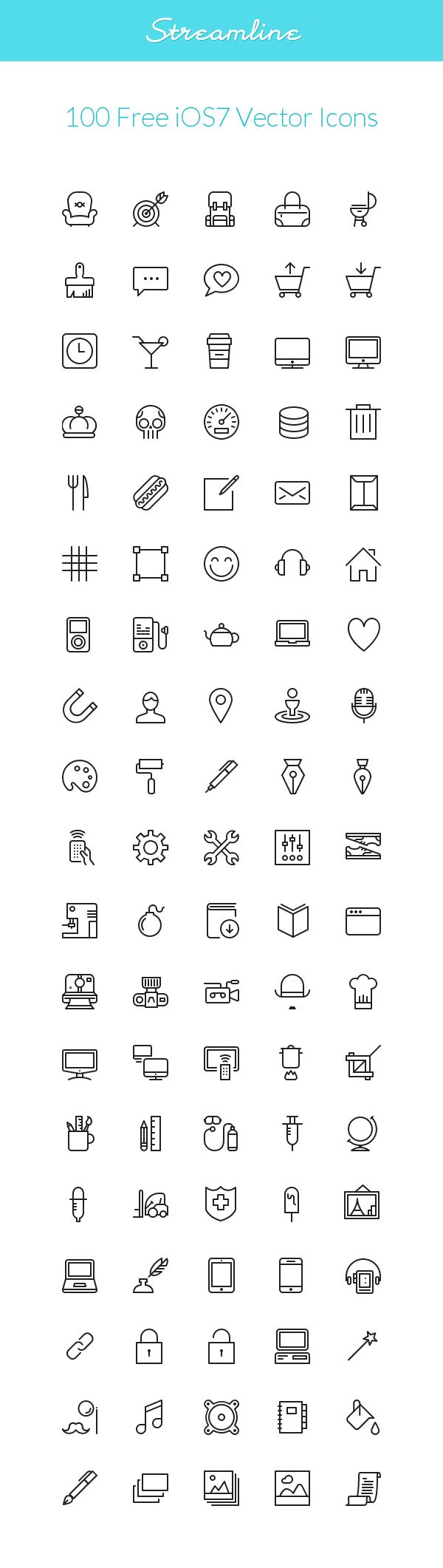 Streamline: #iOS7 #Vector #Icons | GraphicBurger