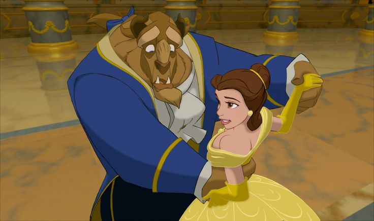 Красавица  и Чудовище из одноименного мультфильма