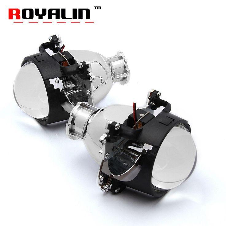 Cheap price US $28.04  ROYALIN Car Bixenon Projector Headlights Lens 2.8 D2S Bulb for BMW 5 E39 2001-2004 Facelift Xenon Light Mercedes W204 C200 07-11