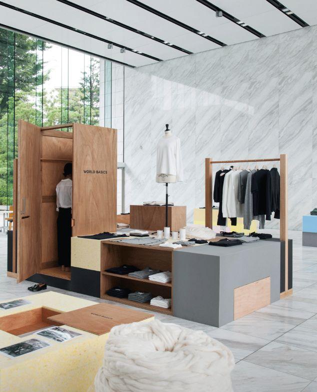 World Basics, Tokyo by Schemata Architects | Creative Retail Fixture Design & Visual Merchandising