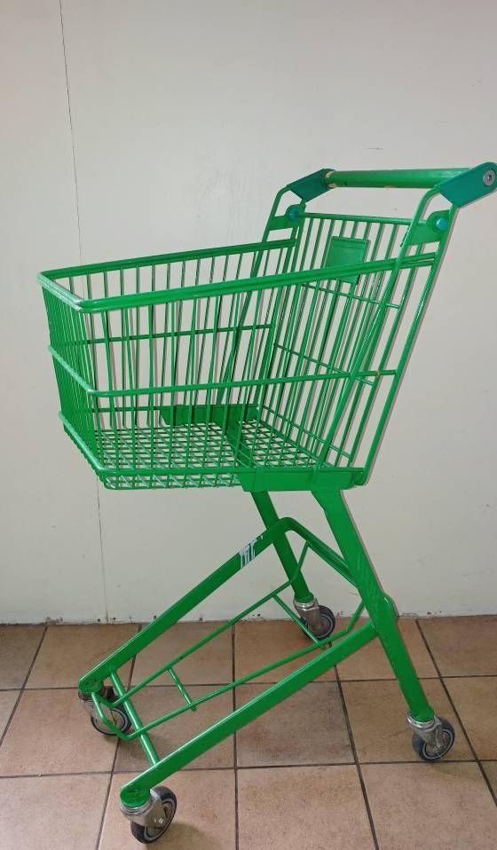 Bekijk dit items in mijn Etsy shop https://www.etsy.com/nl/listing/581743855/vintage-green-shopping-cart-trolley