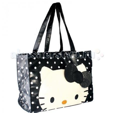 Росмэн Сумка Hello Kitty  — 1130р. -----------------------------  Сумка Hello Kitty в мелкий горошек, на фронтальной стороне изображена симпатичная кошечка Kitty с кокетливым бантиком, станет прекрасным модным аксессуаром для юной модницы.   Особенности: Основное отделение сумки очень вместительное, закрывается на магнитную кнопку.  Внутри сумки есть 3 дополнительных кармана, 1 их них на молнии.  Подкладка сумки имеет неброский стильный принт.  Ручки имеют среднюю длину, что позволяет носить…