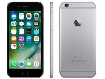 "iPhone 6 Apple 16GB Cinza Espacial Tela 4.7"" - Retina 4G Câmera 8MP + Frontal iOS 10 Proc. M8"