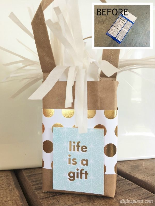 Upcycled Food Box Gift Wrapping