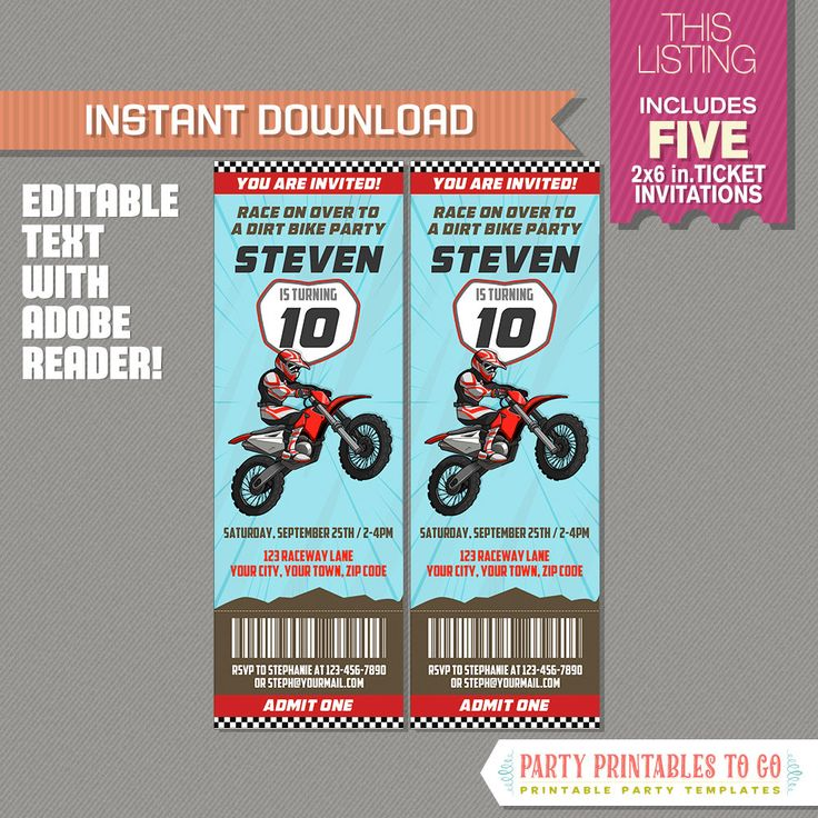 Best 25 Dirt Bike Party Ideas On Pinterest Motocross