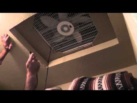 Cheap Homemade Whole House Fan - How To Cool Without A/C !! Like his timing and use strategy!