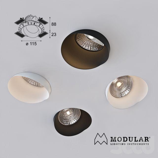 3d модели: Встроенные светильники - Modular, Asy wink