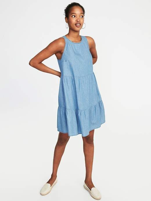 122283cc82fd4 Old Navy Sleeveless Tiered Trapeze Dress for Women