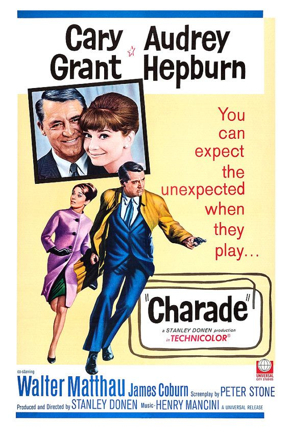 ✔Watched. LOVE this movie! It's got everything good. Charade Classic Movie Poster Print Home Theater by jangoArts, $19.50