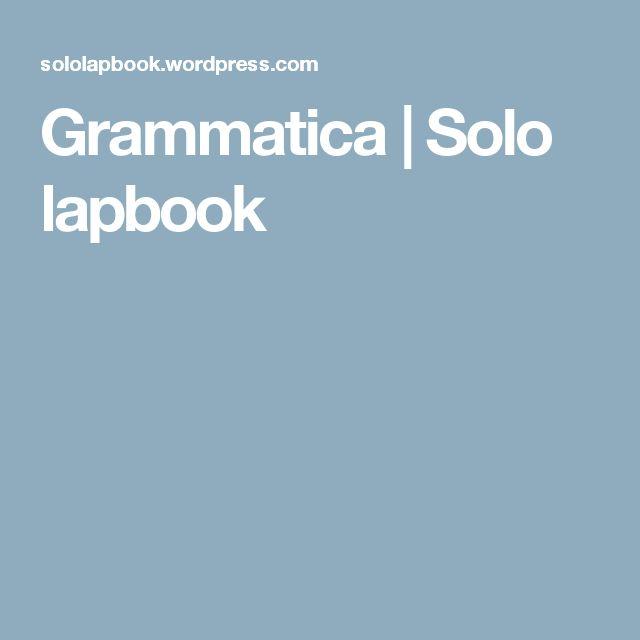 Grammatica | Solo lapbook