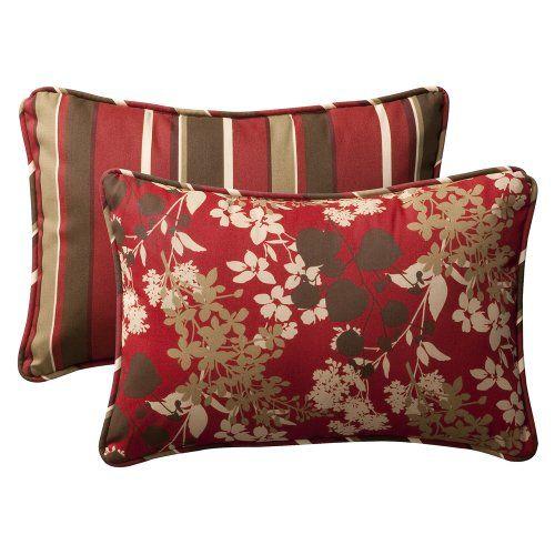 nice Pillow Perfect Decorative Toss Pillow Rectangle Reversible, 24-1/2 Length, 2-Pack