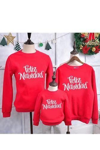 Sudadera Navideña Merry Christmas Roja Feliz Navidad  93fcc149d00d