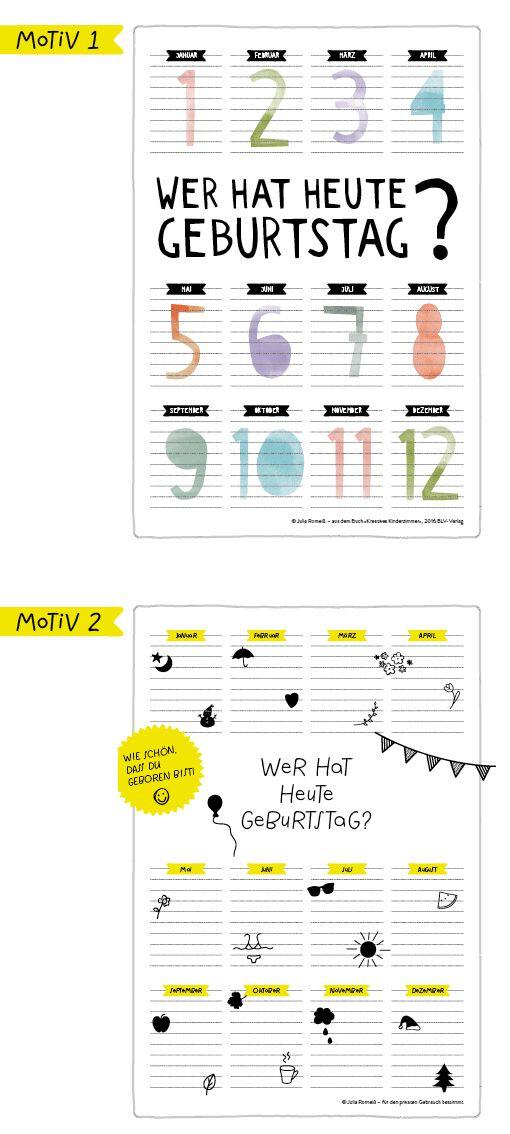 http://einstueckvomglueck.com/6148/kreatives-kinderzimmer-geburtstagskalender/ #birthdaycalendar #printable #freebie